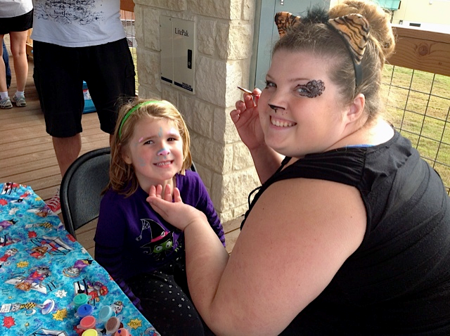 Kids love the face-painting!
