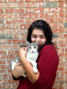 Photo of girl and her cat
